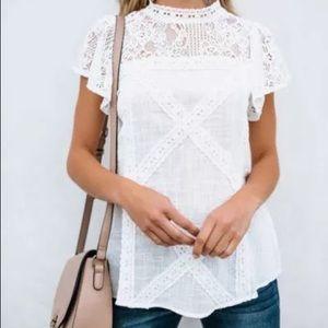 Tops - White linen blouse